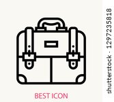 briefcase concept line icon....