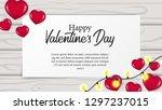 love romance for valentine's... | Shutterstock .eps vector #1297237015