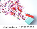 concept birthday party top view ...   Shutterstock . vector #1297239052