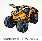 tthree wheeler orange quadbike... | Shutterstock .eps vector #1297240912