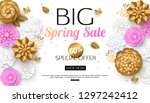 spring new collection banner... | Shutterstock .eps vector #1297242412