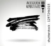 black brush stroke and... | Shutterstock .eps vector #1297246315