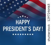 happy presidents day background.... | Shutterstock .eps vector #1297246465