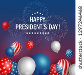 happy presidents day usa with... | Shutterstock .eps vector #1297246468