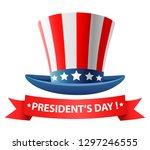 happy presidents day poster...   Shutterstock .eps vector #1297246555