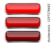 red glass buttons. web 3d shiny ... | Shutterstock .eps vector #1297278682