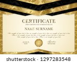 certificate template with... | Shutterstock .eps vector #1297283548
