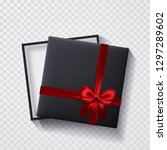 open black empty gift box with... | Shutterstock .eps vector #1297289602