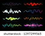 equalizer illustration.... | Shutterstock . vector #1297299565