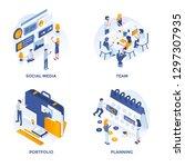 modern flat isometric designed... | Shutterstock .eps vector #1297307935