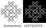 lines  dots and squares  ... | Shutterstock .eps vector #1297312375