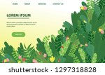 vector landing page design with ... | Shutterstock .eps vector #1297318828