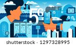 5g technologies in our life.... | Shutterstock .eps vector #1297328995