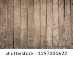 old grunge dirty wood background | Shutterstock . vector #1297335622