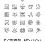 museum well crafted pixel... | Shutterstock .eps vector #1297341478