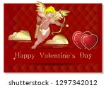 greeting card for valentines... | Shutterstock .eps vector #1297342012