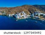 aerial view of katapola vilage  ...   Shutterstock . vector #1297345492
