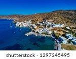 aerial view of katapola vilage  ...   Shutterstock . vector #1297345495