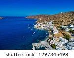aerial view of katapola vilage  ...   Shutterstock . vector #1297345498