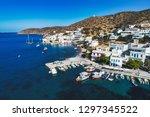 aerial view of katapola vilage  ...   Shutterstock . vector #1297345522