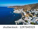 aerial view of katapola vilage  ...   Shutterstock . vector #1297345525
