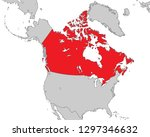 map of north america | Shutterstock .eps vector #1297346632