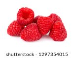fresh raspberry isolated on... | Shutterstock . vector #1297354015
