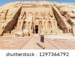 abu simbel  the great temple of ... | Shutterstock . vector #1297366792