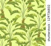 vector seamless pattern of palm ... | Shutterstock .eps vector #129736832