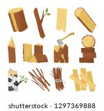 wood industry raw material and... | Shutterstock .eps vector #1297369888