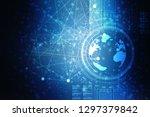 2d illustration world map... | Shutterstock . vector #1297379842