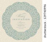wedding invitation cards...   Shutterstock .eps vector #129740996
