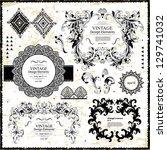 vector set of design elements | Shutterstock .eps vector #129741032