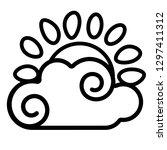 sun  cloud icon. line art.... | Shutterstock .eps vector #1297411312