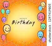 colorful birthday design banner ...   Shutterstock .eps vector #1297419805
