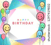colorful birthday design banner ...   Shutterstock .eps vector #1297419832