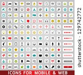 universal icons for web and... | Shutterstock .eps vector #129742772
