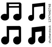 music notes  song  melody or...   Shutterstock .eps vector #1297440748