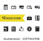 trade icons set with...