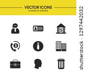 work icons set with head money  ...