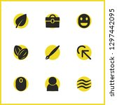 universal icons set with click... | Shutterstock .eps vector #1297442095