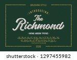 """the richmond"". vintage brush... | Shutterstock .eps vector #1297455982"