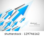 background with blue arrows | Shutterstock .eps vector #129746162