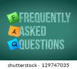 faq writing with white chalk on ... | Shutterstock . vector #129747035