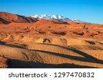 beautiful landscape in atlas...   Shutterstock . vector #1297470832