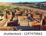 towers of kasbah ait ben haddou ...   Shutterstock . vector #1297470862