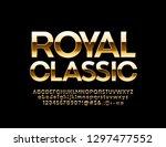 vector golden royal classic... | Shutterstock .eps vector #1297477552