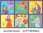 collection of vector valentines ...   Shutterstock .eps vector #1297485862