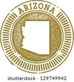 Vintage Style Arizona State Stamp - stock vector