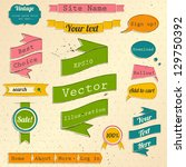 vintage website design elements ... | Shutterstock .eps vector #129750392
